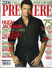 HUGH JACKMAN Premiere Magazine 9/06 RACHEL BLANCHARD CHRISTINA RICCI NO LABEL PC