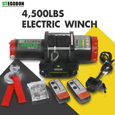 STEGODON Electric Winch 4500LBS 12V Synthetic Rope Tow Truck ATV UTV Offroad Boa