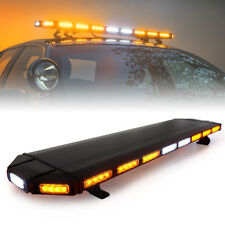 "Xprite 48"" Black Hawk Amber LED Security Warning Roof Top Strobe Light Bar"