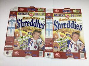 1999 Wayne Gretzky Post Shreddies Maple Crunch Cereal Boxes