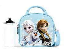 Frozen Summer Fun Disney Anna Elsa Olaf Blue Insulated Lunch Bag Water Bottle