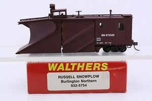 Walthers HO Scale Burlington Northern Russell Snow Plow BN 972529