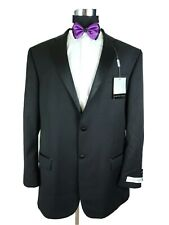 Geoffrey Beene Tuxedo Dinner Evening Mens Black Formal Jacket 2Button Blazer 48L