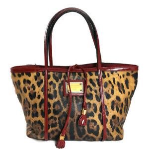 Dolce & Gabbana Miss Escape Shopper Leo Muster und Lackleder Vintage