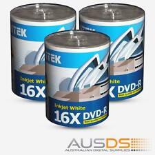 300 X Ritek DVD blank disc media - Printable DVD-R discs matt - 16X burn