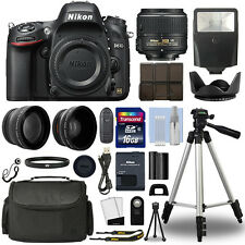 Nikon D610 Digital SLR Camera + 18-55mm VRII 3 Lens Kit + 16GB Top Value Bundle
