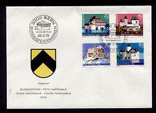 OPC 1978 Switzerland Charity FDC Sc#B455-B458 Unaddressed