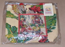Azjaleah Handcrafted Vintage Fabric Bag Western Cowboys / Bright Cactus Flowers
