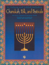 """Chanukah, Folk, and Festivals"" PIANO MUSIC BOOK W/LYRICS Guitar Chords-NEW-SALE"