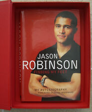 More details for signed copy jason robinson 'finding my feet autobiography -' presentation packed