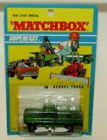 Matchbox Superfast No 50 Kennel Truck Charcoal Grey Base Wide Wheels MIB V RARE
