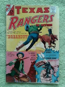 Texas Rangers in Action VG #49 April BREAKOUT Charlton Comic Book (44 ruth5522)