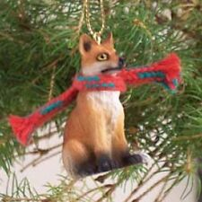 Red Fox Christmas Ornament resin Figurine statue Foxy Wild Animal Collectible