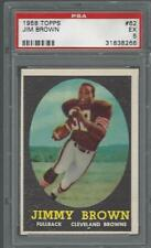 1958 Topps Jim Brown Cleveland Browns PSA 5 HOF RC