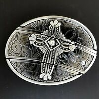 New Cross Belt Buckle Rodeo American Western 3d Silver  Best Quality Men Women