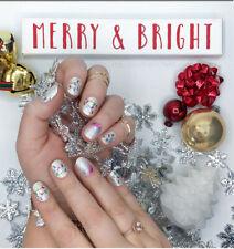 Color Street SHE'S LIT(Sheer White Glitter Red Blue Christmas Holiday Lights)