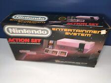 VTG 1980s Nintendo Original NES Action Set EMPTY Box with Wear No foam inserts