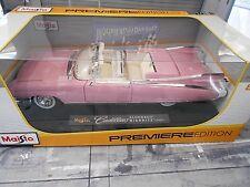 CADILLAC Eldorado Biarritz Cabrio Cabriolet V8 1959 pink US Car Maisto 1:18