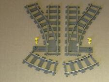 Lego    9 V    Weichenpaar  mit  2  gebogene  Schienen  4531