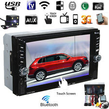 2 DIN Car HD MP5 Touch Screen+Free Rear Camera bluetooth FM Player Stereo Radio