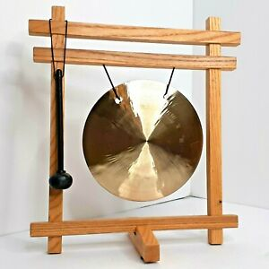 Woodstock Percussion Desk Gong New Open Box Brass Hand Hammered Rich Sound