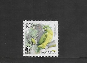 2006 JAMAICA ENDANGERED SPECIES BLACK BILLED AMAZON $50 USED