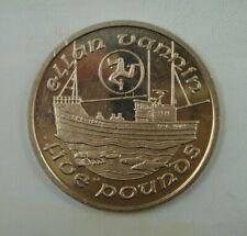 Isle of Man 5 Pounds Coin, 1988, Fishing Boat, Ellen Vannin