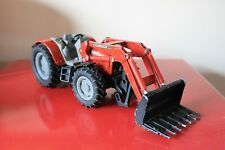 """Siku 9"""" MASSEY FERGUSON 894 Red Tractor Toy Model Farm with Front Loader GERMANy"""