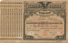 Scarce 1919 Opium Revenue Special Tax Stamp With Coupons