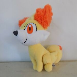 "Pokemon Fennekin Tomy Plush Yellow Orange 2015 9"" Stuffed Animal"