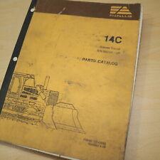 Fiat Allis 14C Cingolato Pista Carico Trattore Ricambi Manuale Catalogo Libro