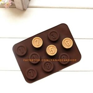 Number Chocolate Fondant Jelly Ice Candy Silicone Molder Mold