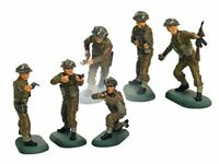 BRITAINS SUPER DEETAIL WWII British Infantry 6 Painted Plastic Figures FREE SHIP