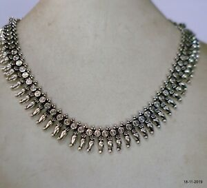 Traditional Design Sterling Silver Necklace choker Necklace Ethnic Necklace