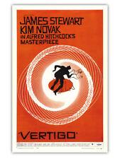 Vertigo (1958) Alfred Hitchcock James Stewart Vintage-Style 12x18 Movie Poster