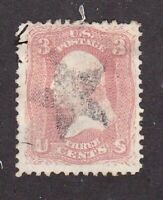United States stamp #65, used, star cancel