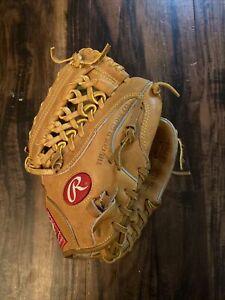 "Rawlings AS115SC Allstar Series Tan Leather Glove RHT 11.5"""