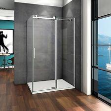 120x80cm Duschkabine Dusche Duschabtrennung Schiebetür ESG- Echtglas Glas  P192