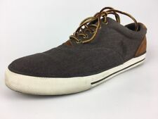 Polo Ralph Lauren Mens Vaughn Saddle Sneaker Grey SZ 12 D US