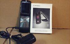 Motorola Razr V3 Black Flip Phone - Att - Very Good Condition