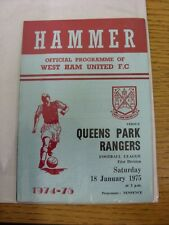 18/01/1975 West Ham United v Queens Park Rangers  . Thanks for taking the time t