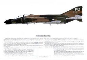 Robin Olds, F-4, Phantom, Vietnam, Artist Ernie Boyette