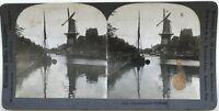 Olanda Mulino Foto Stereo Stereoview N° L8 Vintage