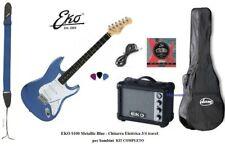 Eko S100 Metallic Blue Chitarra elettrica Blu per Bambini 3/4