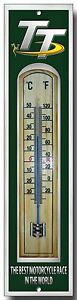 TT RACES ENAMELLED METAL AND WOOD THERMOMETER.I.O.M TT RACES,MOTORCYCLE RACE