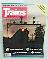 Trains Magazine Of Railroading July 1987 Springfield Terminal