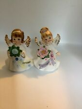 Lefton vintage Birthday month pair of figurines, September and October