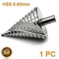 12 Step Spiral Groove Conical Cone Drill 6-60mm Titanium HSS Bit Set Cutter AU