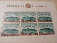 1961 San Marino foglietto Europa 500 lire nuovo ** MNH perfetto OCCASIONE