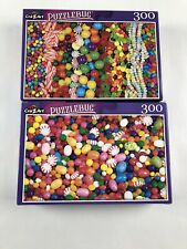 BRAND NEW Puzzlebug 300 Small Piece Puzzle - Lot Of 2 Candy Jelly Beans